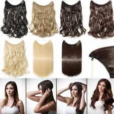 Wire In On Headband Long Wavy Curly Full Head Hair Extension Synthetic Hairpiece