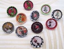 New Sexy Vintage Zombie Pin Up Girl Bottlecap Pins Retro 50s Hot Rod Rat Rod