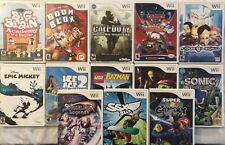 Nintendo Wii NO Manual Games Lot (Pick one or more!) in Good Condition!