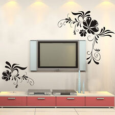 Removable Flower Wall Sticker Decal Vinyl Wall Art Mural TV Background Decors