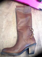 Boots Fornarina leather dust thread NEW Value 200E Heel 7,5cm Sizes 39