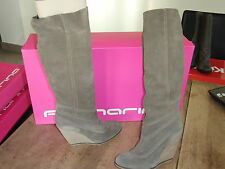 FORNARINA Boots suede beige NEW wedge 9cm Val 210E sizes 35, 37