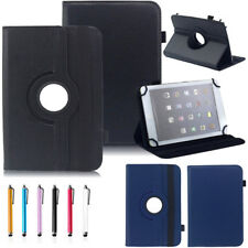 For 7 10 10.1 Inch Tablet PC Universal Leather 360 Rotate Flip Stand Case Cover