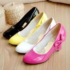 Ladies Fashion Shoes Heart-Shaped Hollow Out Wedge High Heels Pumps AU  AYY-018
