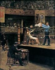 In the Mid-Time by Thomas Eakins (Classic American Boxing Art Print)