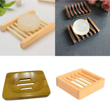 Bathroom Wooden Soap Case Holder, Sink Deck Bathtub Shower Dish Soap Saver Tray