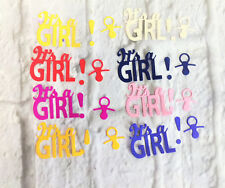 Die cuts X8 It's a girl, paper,embellishments, scrapbooking, card making.
