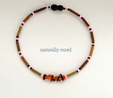 Hazelwood Amber therapeutic organic necklace pink-brown