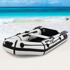 2 Person Inflatable Fishing Dinghy Tender Rafting Boat Ship W/Foot Pump Bag Tool
