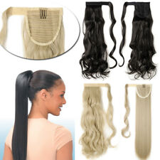 Natural Real Thick Clip on in Ponytail as Human Curly Hair Extensions Party Hair