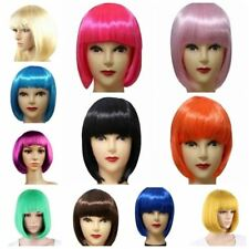 US Women Sexy Full Bangs Wig Short Wig Straight BOB Hair Cosplay Party Wigs NEW