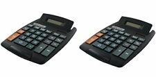 Bazic 8-Digit Large Desktop Calculator with Adjustable Display Pack Of 2 Gadgets