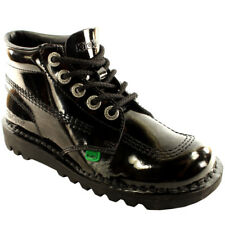 Womens Kickers Kick Hi W Core Patent Classic Office Work Boots Shoes All Sizes