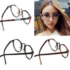 Unisex Vintage Retro Round Glasses Frame Eyeglass Spectacles Clear Lens Eyewear