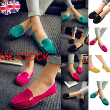 UK Womens Ballerina Dolly Pumps Ladies Work Flats Loafers Moccasin  Shoes Sizes