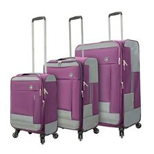 Spinner Luggage Set 3 PC Women Rolling Wheeled Travel Wheeled Lightweight NEW