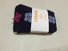 NWT Gymboree Charm Class Navy Flower Tights Toddler Girls 12-24 2T-3T