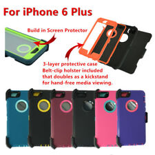 Defender Case w/Screen,Holster Belt Clip fit Otterbox For iPhone 6  6s Plus