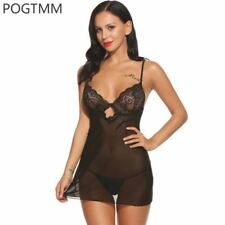 Baby Doll Lingerie Sexy Hot EroticDress Women See Through Backless Hollow Out S
