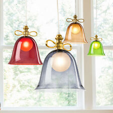 Modern Bowknot Chandelier Glass Lampshade Pendant Light Ceiling Hanging Fixtures