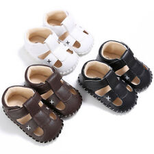 Baby Infant Kids Girl Boys Shoes Soft Sole Crib Infant Leather Sandals Shoes