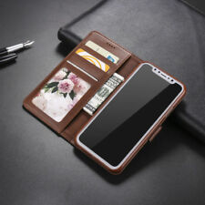 For Apple iPhone X 10 Deluxe Magnetic Flip PU Leather Wallet Card Case Cover
