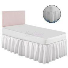 Plain Dyed Fitted Valance Sheet Poly-Cotton Bed Sheet 4 FOOT BED SIZE
