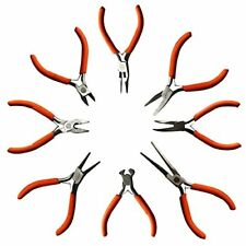 8 Piece Set of Plier Tools by Kurtzy Wire Cutters Flat Nose Pliers Round and Kit