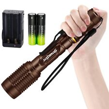 Ultrafire 12000 Lumen 5 Mode T6 LED Zoomable Flashlight Torch 18650 Charger