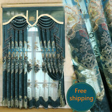 upscale chenille hollow embroidery French cloth blackout curtain valance N244