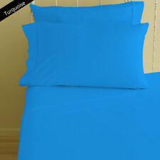 1000 TC New Egyptian Cotton Turquoise Solid/Stripe All AU Size Bedding Items