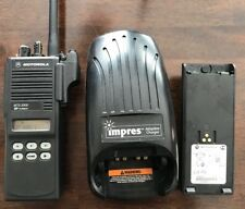 Motorola VHF MTS2000 Model II W/2 Impres Batteries And Charger Free Programming