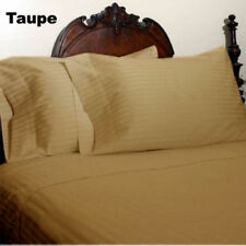 1000 TC 100%Egyptian Cotton Bedding items All US Sizes Taupe Striped