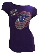 Amplified OFFICIAL ROLLING STONES RHINESTONE USA Tour Tongue Rock Star VIP