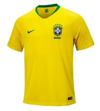 Nike Men CBF Brazil 2018 Home S/S Shirt World Cup Football Top Jersey 893856-749
