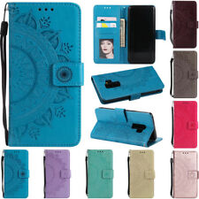 For Samsung Galaxy S4 S5 S7 S9 Wallet Leather Card Flip Kickstand TPU Case Cover