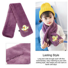 Warm Children Plush Scarf Thick Kids Winter Plush Shawl Soft Kids Muffler Wraps