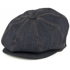 Jaxon Blue Denim Newsboy Bakerboy 8 Panel Gatsby Peaky Blinder Flat Cap Hat