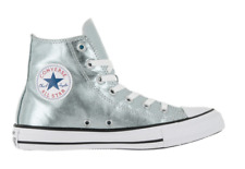 Converse Chuck Taylor Hi Top Metallic Sneakers Shoes Mens: 12 Womens: 14