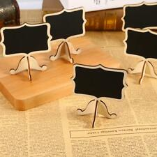 5Pcs Mini Lace Blackboard Chalkboard Wooden Stand For Party Christmas Decoration