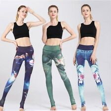High Waist Women's Capri YOGA Running Pants Sports Leggings Fitness Gym Trousers