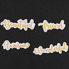 Words Metal Cutting Dies With Shadow Stencils For Scrapbooking Paper Cards