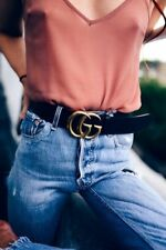 Leather Belt Genuine GG Mens Buckle Fashion Luxury Jeans Strap
