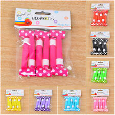 6Pcs Multi Color Blowouts Whistles Party Bag Gift Toys Fillers Kids Birthday