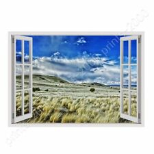 READY TO HANG CANVAS New Mexico Scenic Landscape Fake 3D Window Framed Wall Art