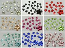 500 Flatback Acrylic Faceted Flower Rhinestone Gems 8mm No Hole Colour Choice