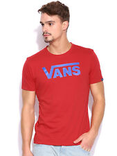 VANS Off The Wall New Men's Print Logo Red T-Shirt Top Tee UK Size Small