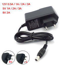 AC DC 5V 12V 9v 1A 2A 3A 0.5A Power Supply Adapter US EU Plug LED Strip light