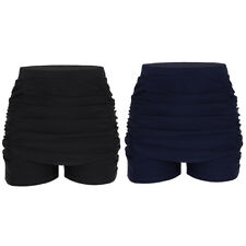 Women's High Waisted Swim Shorts Bikini Swimwear Boy Style Shorts Brief Bottoms