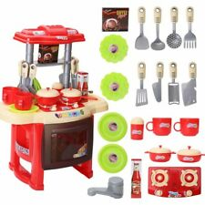 2018 Kids Play Kitchen Toddler Role Pretend Cooking Home Cookware Chef toy Set